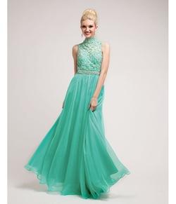 Cinderella Divine Moto - Jade Lace & Chiffon Victorian Collar Gown