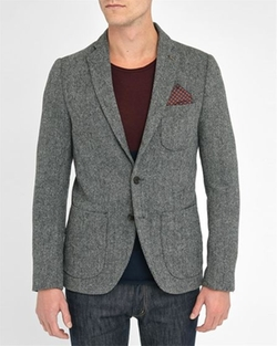 Scotch And Soda - Wool Chevron Blazer