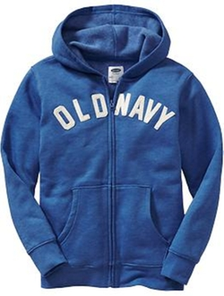 Old Navy - Zip-Front Logo Hoodies