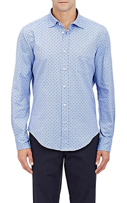 Hartford  - Polka Dot Flannel Shirt