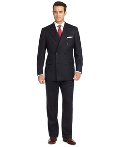 Brooks Brothers - Madison Fit Chalk Stripe Double-Breasted Flannel 1818 Suit