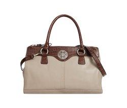 Giani Bernini  - Florentine Glazed Leather Double Zip Satchel Bag