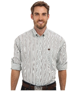 Cinch - Plain Weave Stripe Button Down Shirt