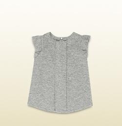 Gucci - Viscose Jersey Flutter Sleeve T-Shirt
