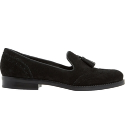 Dune - Grady Tasselled Suede Loafer Shoes