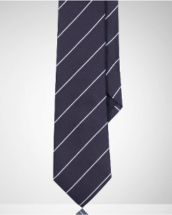 Ralph Lauren Black Label - Striped Peau De Soie Tie