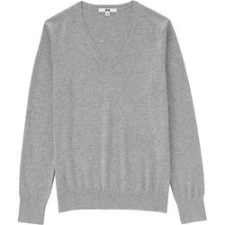 Uniqlo - Cotton Cashmere V-Neck Sweater