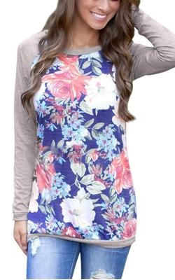 Fanala - Floral Print Crew Neck Sweatshirt