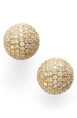 Bony Levy - Large Diamond Pavé Ball Stud Earrings