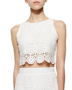 Miguelina - Rosi Floral-Lace Crop Top