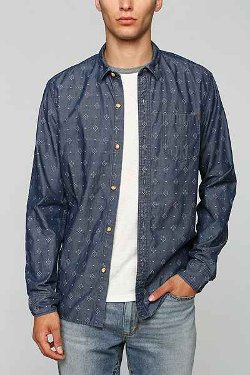 Urban Outfitters  - Koto Printed Chambray Button-Down Shirt