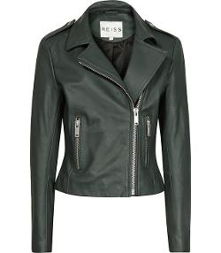 Sheena  - Boxy Leather Biker Jacket