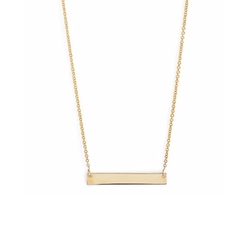 Bony Levy - Gold Bar Pendant Necklace