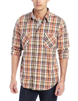 Weatherproof Vintage - Poplin Plaids With Contrast Trim Shirt