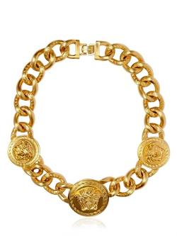 Versace  - Medusa Gold Plated Metal Necklace