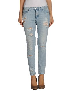 Pinko Black  - Washed Torn Denim Pants