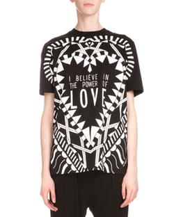 Givenchy - Short-Sleeve Love Graphic Tee Shirt