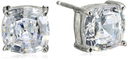 Crislu - Sterling Platinum CZ Legacy Stud-Earrings