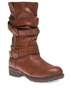 Wet Seal - Multi Strap Mid-Calf Boots