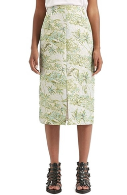 Topshop Boutique  - Hawaii Print Jacquard Skirt