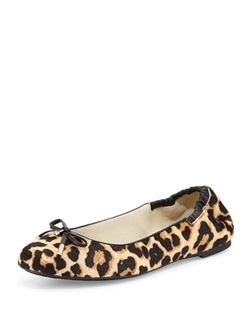 Michael Kors - Melody Calf-Hair Ballet Flat Shoes