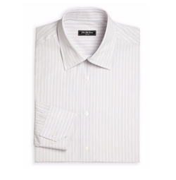 Saks Fifth Avenue Collection - Bridge Striped Cotton Dress Shirt