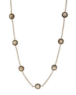 Ippolita	 - Rose Smoky Quartz Station Necklace