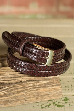 Overland Sheepskin Co - Milan Woven Leather Belt