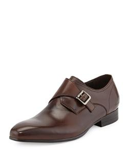 Kenneth Cole  - Well Polished Leather Monk-Strap Slip-On Shoes