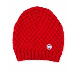 Canada Goose - Slouchy Basketweave Wool Beanie