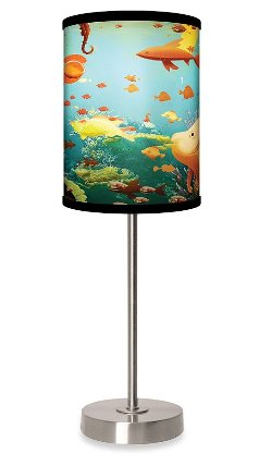 Bed Bath And Beyond - Aquarium Table Lamp With Brushed Nickel Base