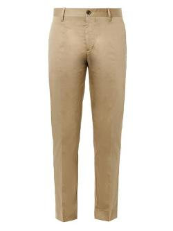 Acne Studios  - Sam Cotton-satin Cropped Chinos