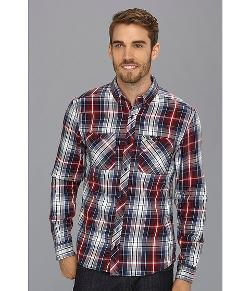 Lacoste  - Live Long Sleeve Button Down Twill Plaid Woven Shirt