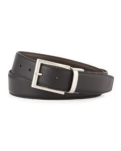 Ermenegildo Zegna  - Matte Reversible Belt