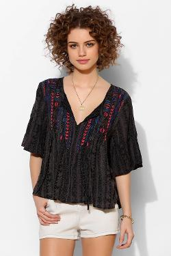 Ecote  - Willow Pintuck Gauze Blouse