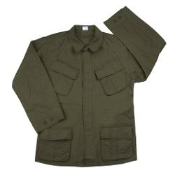 Strike Force Clothing  - Vintage Style Rip Stop Vietnam Fatigue Shirt Jacket