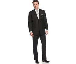 Perry Ellis - Comfort Stretch Black Tonal Stripe Suit
