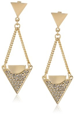 Paige Novick  - Lola Collection Triangle Chain Drop Earrings