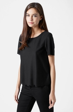 Topshop - Scallop Frill Tee
