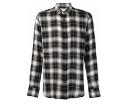 Saint Laurent   - Classic Plaid Shirt