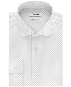 Calvin Klein  - Steel Slim-Fit Performance Black Print Dress Shirt