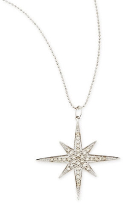 Sydney Evan - 14k White Gold Diamond Starburst Necklace