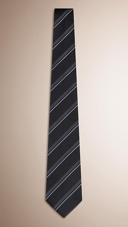 Burberry - Striped Silk Tie