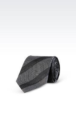 Armani Collezioni - Striped Silk Tie With Logo