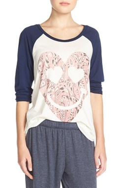 Lauren Moshi - Graphic Raglan Tee Shirt