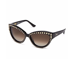 Moschino - Studded Cat Eye Sunglasses