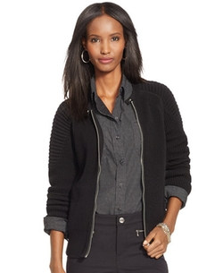 Lauren Ralph Lauren - Zip-Front Moto Jacket