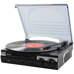Jensen - Speed Stereo Turntable With Built In Speakers