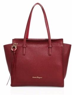 Salvatore Ferragamo  - Small Amy Bi-Color Leather Bag