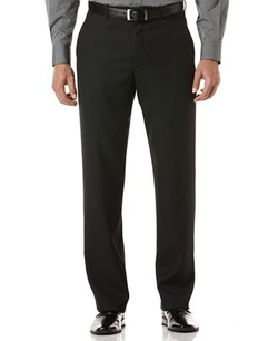 Perry Ellis  - Sharkskin Flat Front Dress Pants